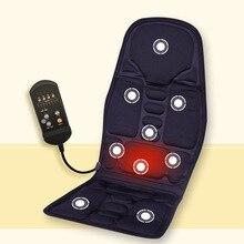 Car Home Office Full-Body Massage Cushion. Back Neck Massage Chair Massage Relaxation Car Seat. Heat Vibrate Mattress