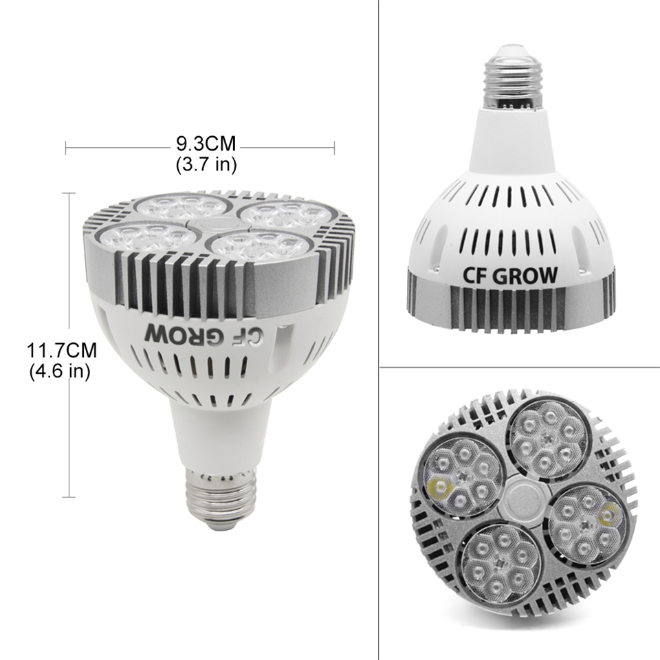 120W 150W COB LED Grow Light E26 E27 Socket Base Full Spectrum Grow Lamp for Indoor Plants Small Growing Tent in Growing Lamp Bulbs from Lights Lighting