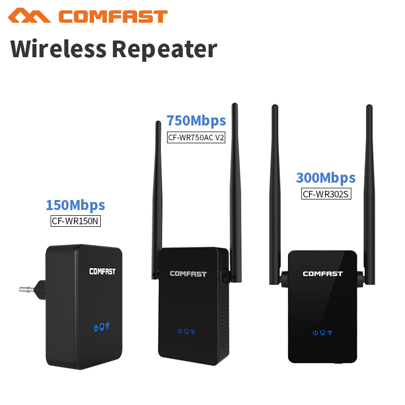 New Comfast CF-WR750AC V2 Wireless Wifi Repeater 150-750 Mbps Dual Band 2.4/5.8G Range Expander Signal Booster Extender Router