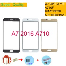For Samsung Galaxy A7 2016 A710 A710F SM-A710FD SM-A710F/DS Touch Screen Front Glass Panel TouchScreen Outer Glass Lens NO LCD samsung sm a710 galaxy a7 2016 black