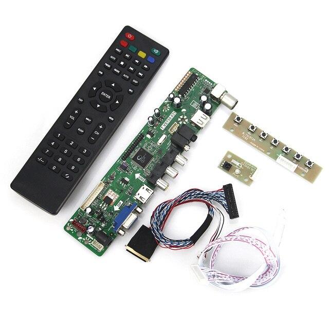 (ТВ + HDMI + VGA + CVBS + USB) Для B140RW02 V0 LP140WD2 Т. VST59.03 LCD/СВЕТОДИОДНЫЙ Драйвер Контроллера Совета LVDS Повторное Ноутбук 1600x900