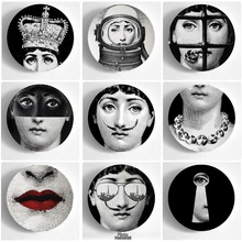 10 Inches Fornasetti Plate Wall Hanging Art Plates Fornasetti Crafts Ceramic Home Decoration Plates Piero Fornasetti Wholesale