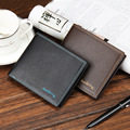 Men's Luxury Magic Wallets Business Short Walet With Photo Card Holders Portfolio Man Slim Thin Wallet Male Leather Money Bag