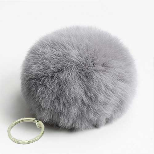 Cute fake Rabbit Fur SoftBall Pompom Keychain For Women Bag Cars Pom Pom Fluffy Key Chains Keyring Pendant Porte Clef Charm chaveiro fluffy for keychain fake rabbit fur ball pom pom cute charms pompom gifts for women car bag accessories
