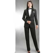 Women Pant Suit Work wear women's trousers autumn/winter long sleeve coat and trousers a button office lady black formal suit