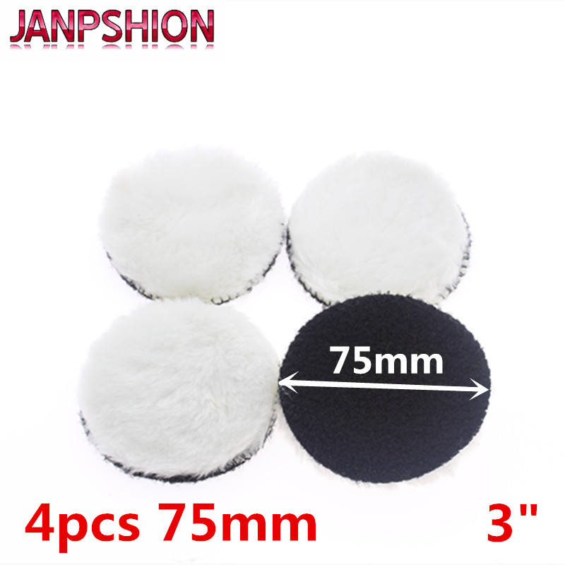 JANPSHION 4pc 75mm Car Polishing Pad 3