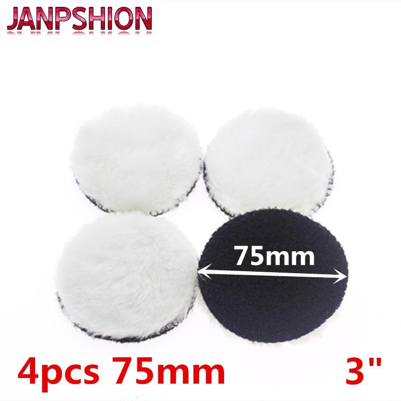 JANPSHION 4pc 75mm car polishing pad 3 inch polish waxing pads Wool Polisher Bonnet For Car paint CareJANPSHION 4pc 75mm car polishing pad 3 inch polish waxing pads Wool Polisher Bonnet For Car paint Care