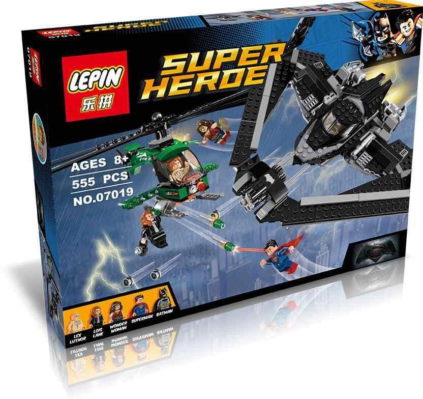 555 шт. в партии, набор строительных блоков с Бэтменом vman, 76046, совместим с Lego