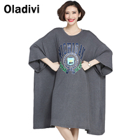 9XL 8XL 7XL 6XL 5XL 4XL Oversized Dress for Women 2016 New Style Casual Loose Dresses