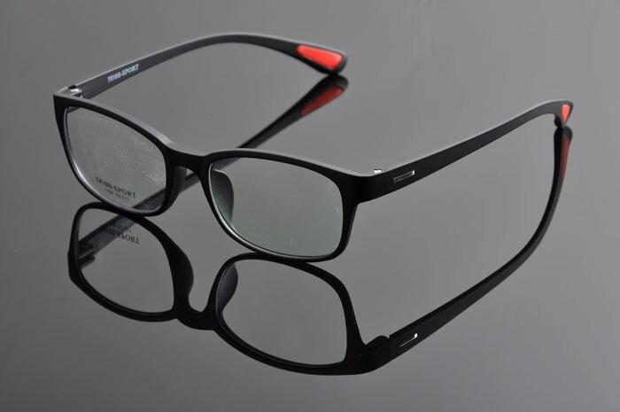 TR90 спортивные полный кадр очки ультра легкий Play для верховой езды очки для близорукости оправы для очков Для мужчин DD0876 - Цвет оправы: matt black