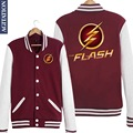 Barry Allen BA The Flash TV Comic Print Women/Men Long Sleeve Baseball Jacket Velvet Liner Fleece Hoodies Jersey