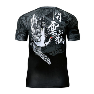 Image 2 - Zrce rashgard 半袖フィットネスタイツトラックスーツセット 2 個セット圧縮セット男性のスポーツウェア