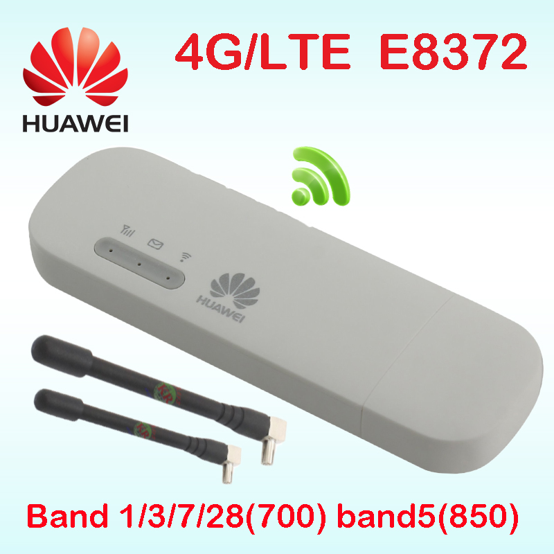 Huawei E8372 Wingle E8372h-153 Car Hotspot 4g Router Sim Slot Antenna Mifi 4g Unloked Router Wifi E8372h-608 Pocket Wifi Modem(China)