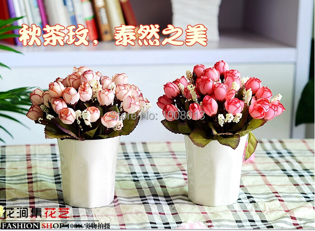 Awal Teh Meimei Bunga Palsu Plastik Ruang Tamu Hias Pernikahan Grosir