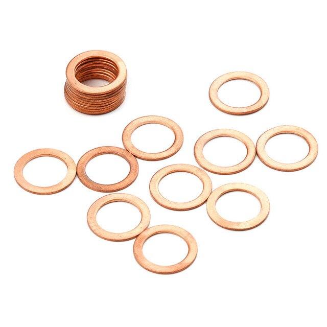 Kit de joint à bague plate | Joint solide en cuivre, raccords pour générateurs machines 14*20*1MM