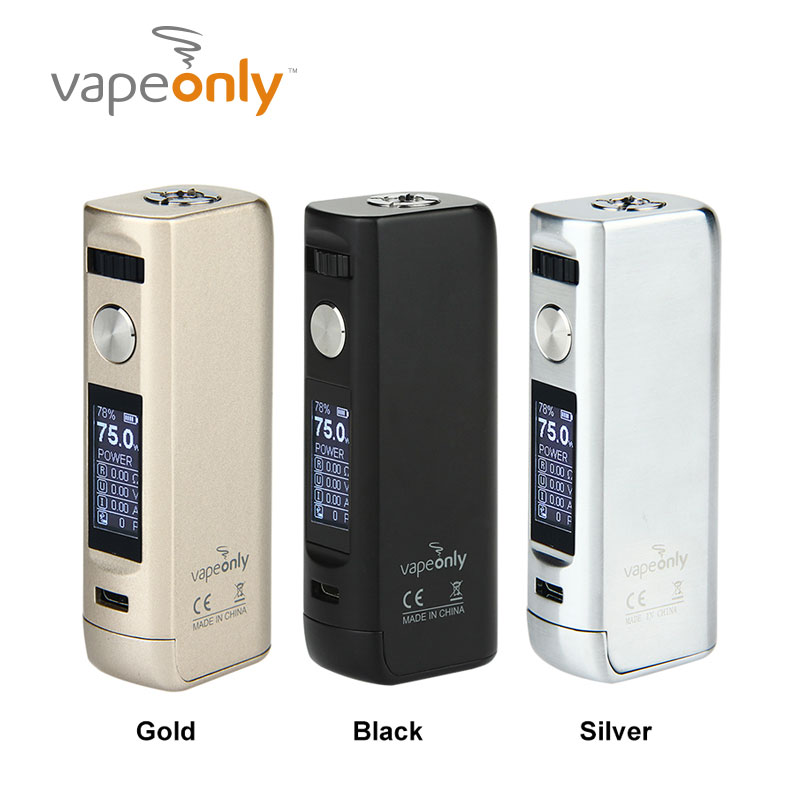 Electronic Cigarette VapeOnly Lancer TC 75W Box MOD Support VW VT TCR modes Lancer TC 75w