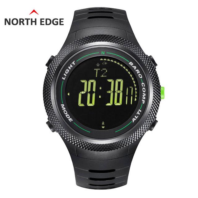 BORDE DEL NORTE Al Aire Libre Deportes Escalada Brújula Multifunción Digital de Alta Calidad Reloj de Los Hombres de Natación Fresco Relojes Relogio masculino