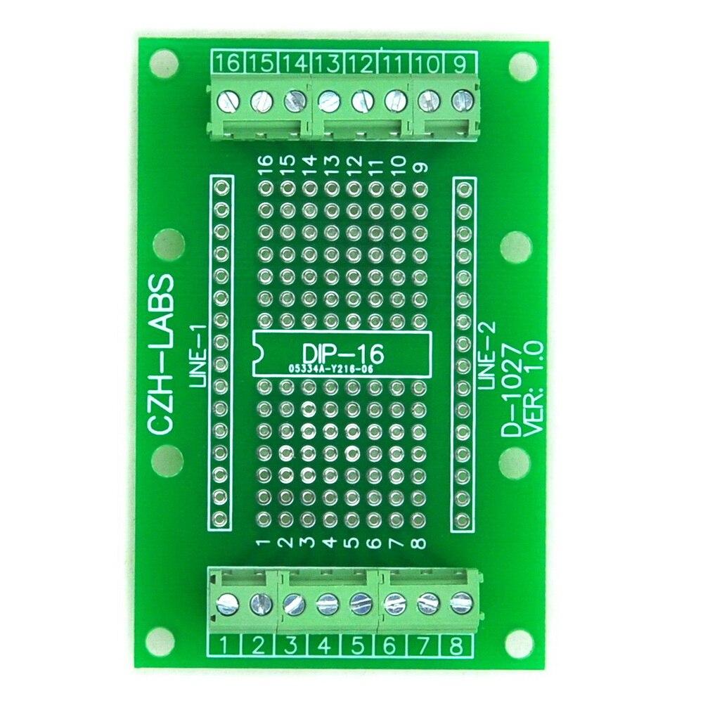 DIP-16 компонент для винта терминальный блок-Адаптер доска, DIP16 печатной платы.