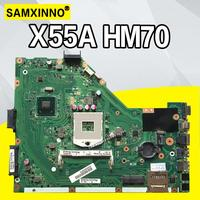 X55A HM70 SLJNV mainboard For ASUS X55A DDR3 PGA989 Laptop motherboard MAIN BOARD REV2.1/REV2.2 100% Tested Working
