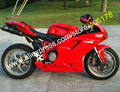 Hot Sales,Full Red Body kit For 2007-2011 Ducati 848 1098 1098S 1198 07 08 09 10 11 Motorcycle Fairing Kit (Injection molding)