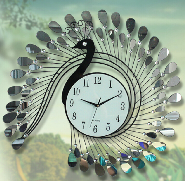 Tieyi 8inch Pea Quartz Wall Clock Modern Metal Art Acrylic Decoration Stainless Steel Iron Design In Clocks From Home Garden On