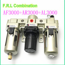 AC3000-02 AC3000-02D AC3000-03 AC3000-03D Pneumatic Air Filter Regulator Combination F.R.L Three Union Air Source Treatment цены онлайн
