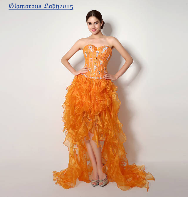 Popular Orange Prom Dresses-Buy Cheap Orange Prom Dresses lots ...