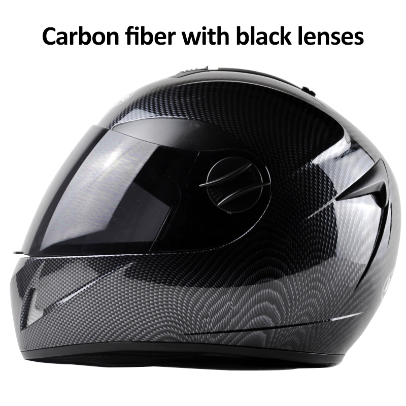 DOT Carbon Fiber Motorcycle Helmets Double Lens Racing Safety Full Face Moto Helmet Casco Capacete M/L/XL high quality new design starwars carting helmets atv 2 motorcycle racing helmets dot full face exported to japan s m l xl xxl