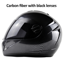 DOT Carbon Fiber Motorcycle Helmets Double Lens Racing Safety Full Face Moto Helmet Casco Capacete M/L/XL malushun full face motorcycle helmet dragon printing full face riding helmet moto helmets capacete de moto m l xl xxl