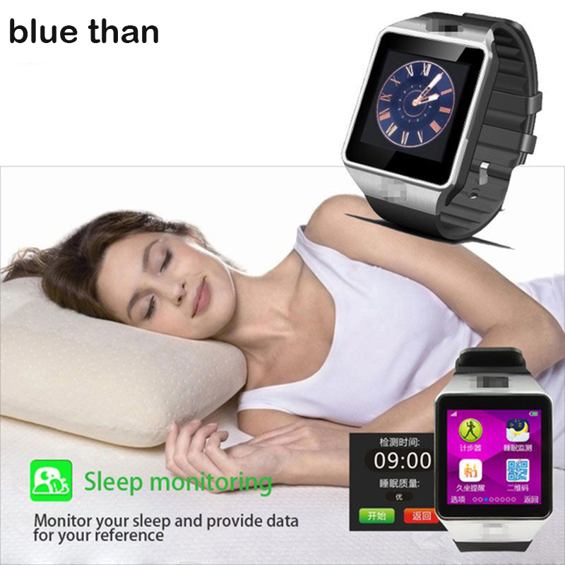 blue than DZ09 Smart Watch GT08 Bluetooth Health Android Wear Smartwatch Mobile Phone Fitness Watches Camera