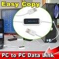 De alta Velocidad USB 2.0 UNID A PC Sync Enlace Net de Acciones En Línea Transferencia de Archivos de Datos directa Puente Cable LED Fácil Copiar Entre 2 Equipos