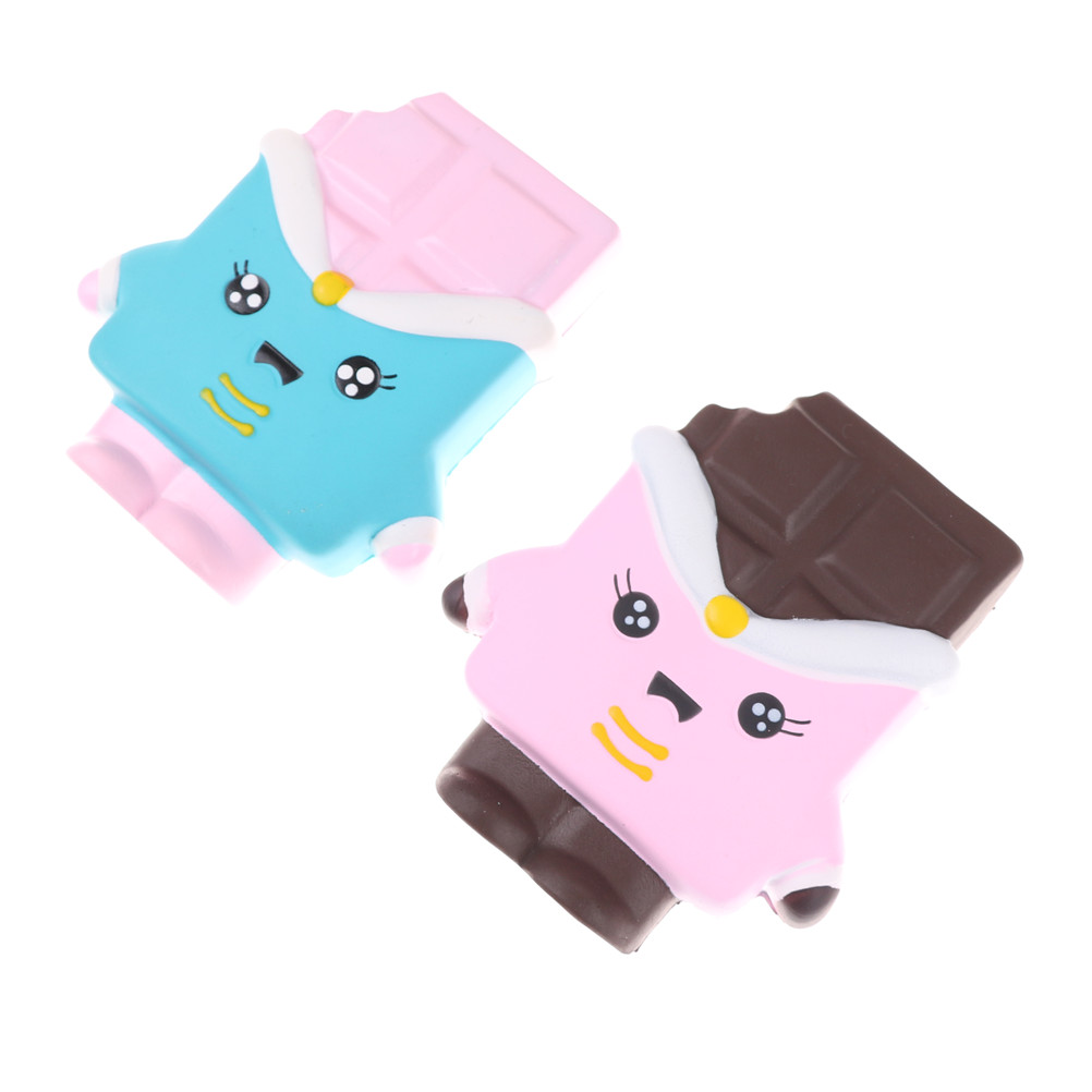 1PC Kawaii Cute Soft Chocolate Slow Rising Scented Gift Fun Toys For Kids Blue Pink Hot Sale