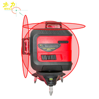 muli 3D Red 5/12Lines Laser Level 360 Self Leveling Waterproof Shockproof Accurate Touch Key Lithium Battery Construction Tools