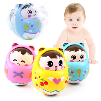 Baby Newborn Toys Nodding Matlyoshka Tumbler Toys For Kid Ring Bell Cute Roly-poly Educational Rattle Baby Development Toys