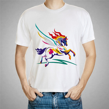 Summer Style 3D Horse T Shirt Men Hot Style T-Shirt men's T Shirts Tops unicorn horse animal owl deer cat Lions t shirt 61-21#