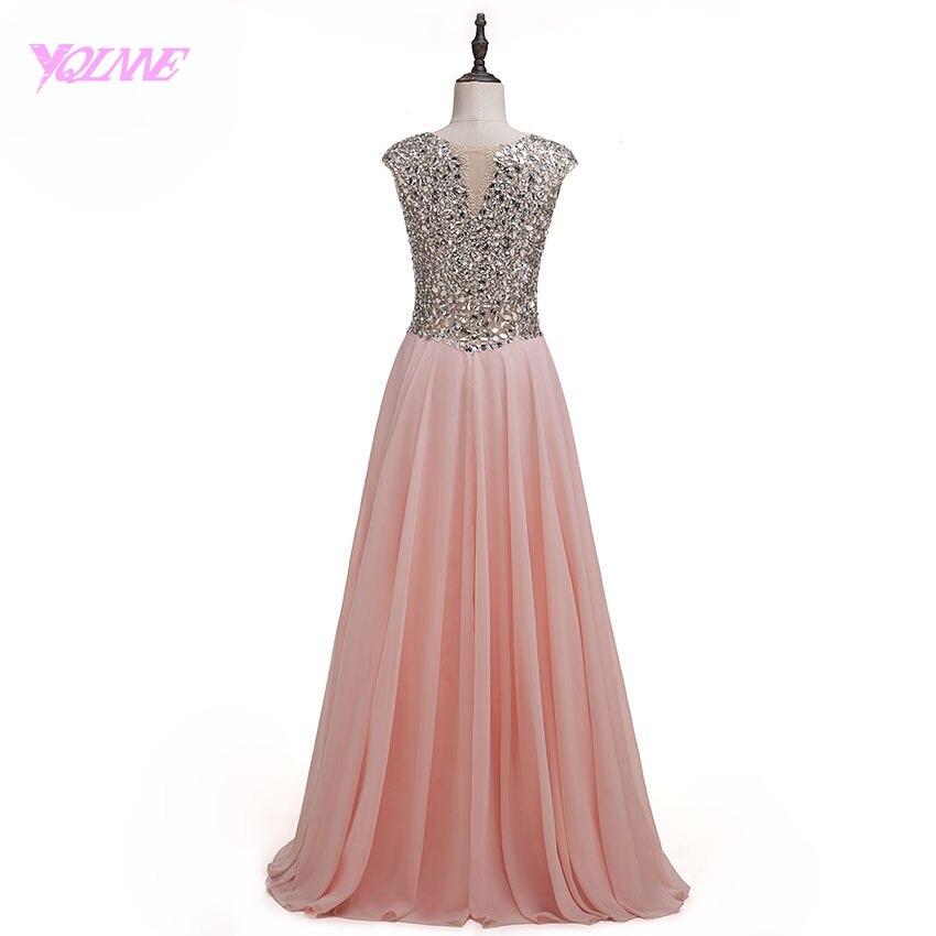Yqlnne Colorete Rosa Diamantes con piedras falsas Vestidos de baile ...