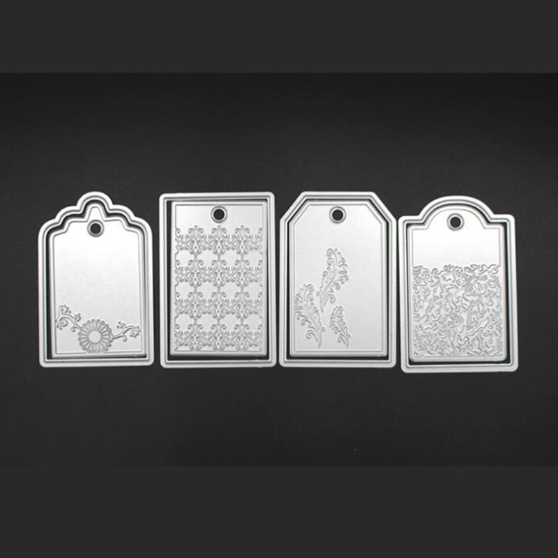 YLCD399 Tags Metal Cutting Dies For Scrapbooking Stencils DIY Album Cards Decoration Embossing Folder Die Cutter Template Mold