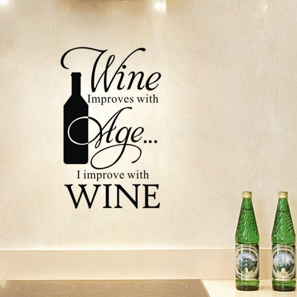Aufkleber Küche Wein Verbessert Mit Alter Ich Verbessern Winebottle ...