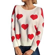 Sexy Women O-Neck Sweater Female Winter Backless Causal Pullover Long Sleeve Knitwear Heart Shape Top Blouse(China)