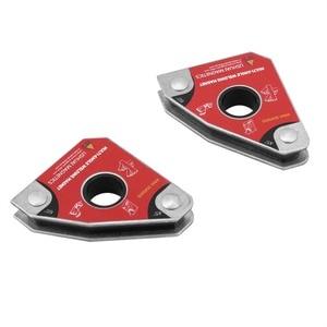 Image 4 - 2 adet çok açısı 30/60/45/90 kaynak mıknatıslar tutucu lehimleme aracı elektrik kaynak demir emme tutma manuel aracı
