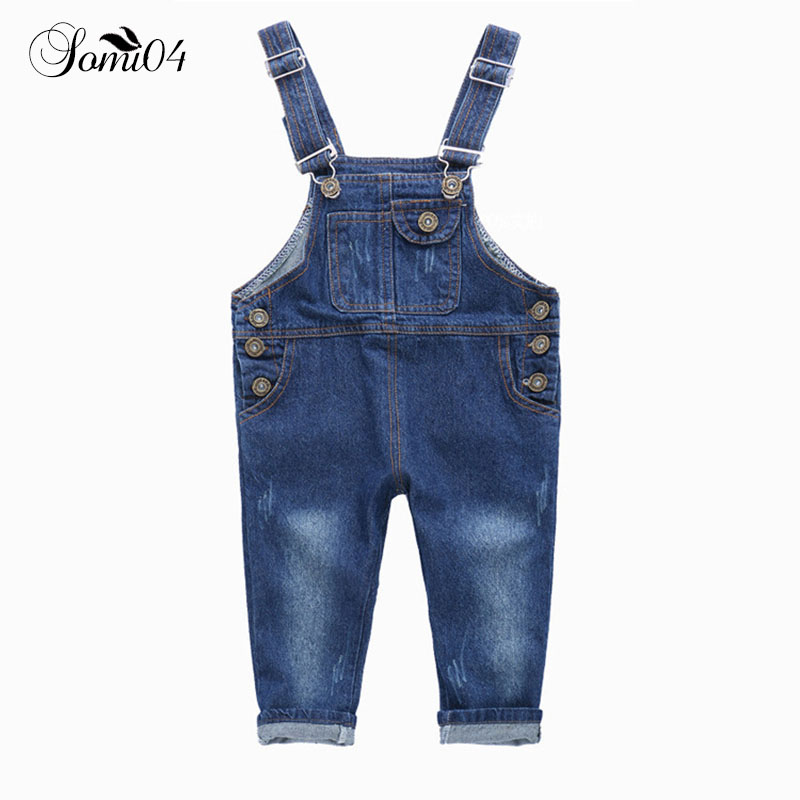 Casual Jeans Pants 2018 Spring Autumn Childrens Trousers New Kids Denim Toddlers Cute Overalls Jeans Pants Girls Boys Clothes