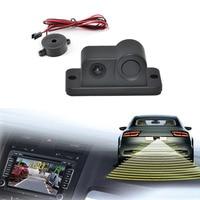 2 In 1 HD Car Reverse Backup CCD LED Rear View Camera Parking Sensors Radar Rearview
