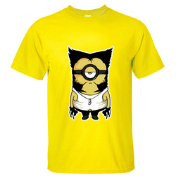 Anime minion and x men wolf hugh jackman cotton funny tee shirts o neck euro size.jpg 250x250