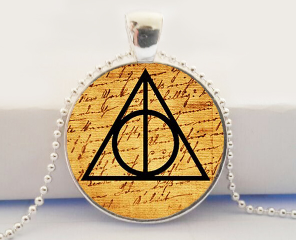 Hot Glass Dome Jewelry Harry Potter Always Deathly Hallows Symbol