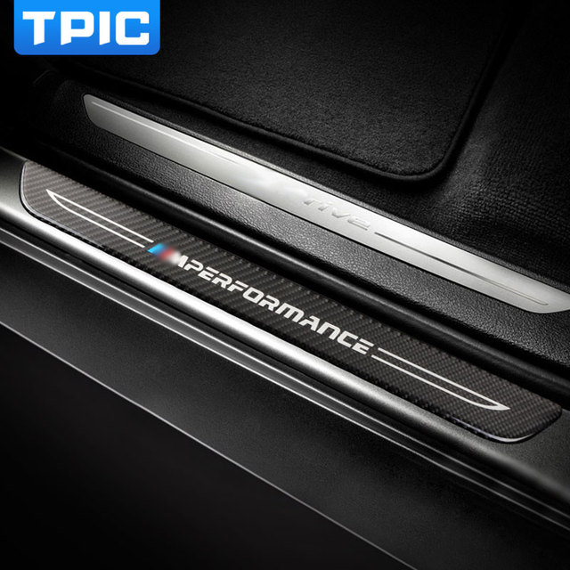 accessories door sill scuff plate guards carbon fiber door sills protector stickers for bmw f10. Black Bedroom Furniture Sets. Home Design Ideas