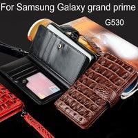 Coque voor samsung galaxy grote prime case G530 Luxe Crocodile Snake Leather Flip cover Zakelijke stijl Portemonnee telefoon Case funda