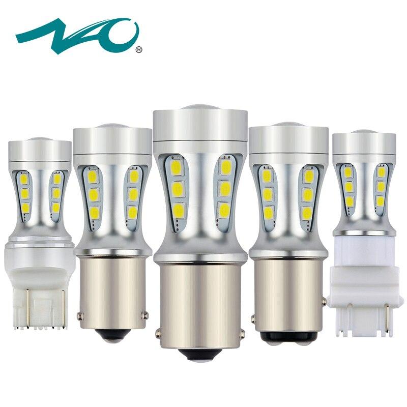 NAO 2x P21W W16W PY21W W21W LED Bulb T20 led T15 7443 W21 5W 7440 BAU15S