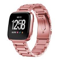 Para Cinta Banda Substituição Fitbit Bandas Sólido Aço Inoxidável Versa Versa Versa Pulseiras De Metal para Fitbit Smartwatch
