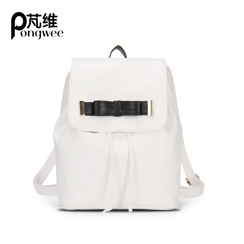 PONGWEE Lady Small Summer Bag Sky Blue Beige Bag Fresh School Women Bag Bow Shoulder Bag