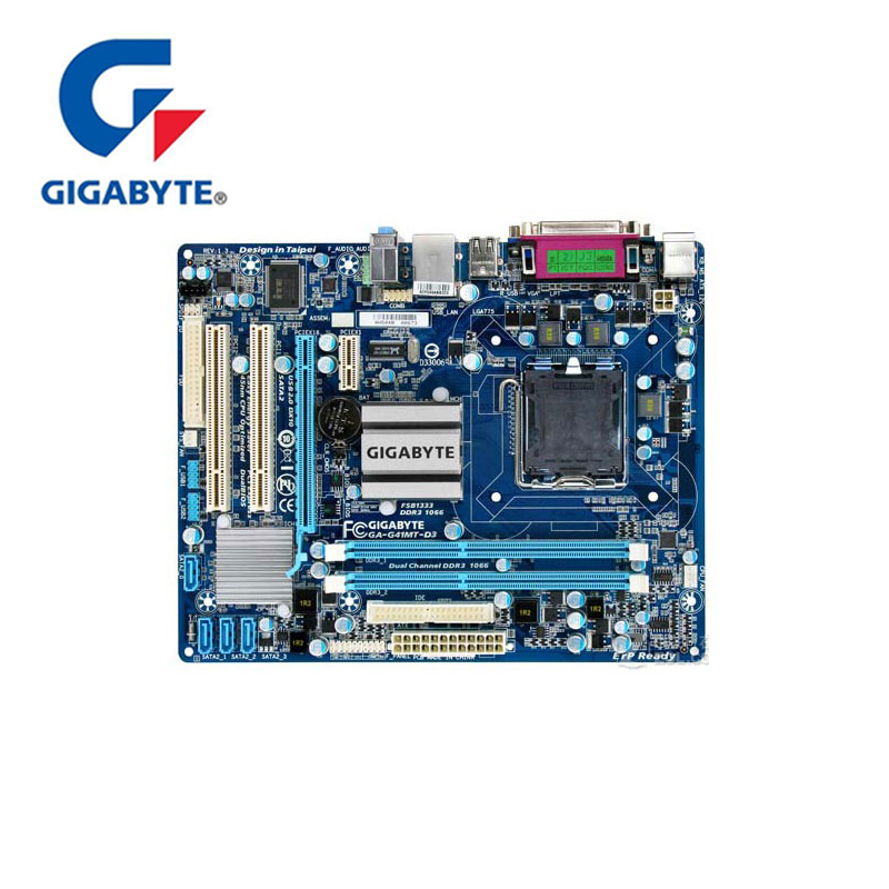 100% Gigabyte GA-G41MT-D3 Motherboard LGA 775 DDR3 8GB 1066Mhz Desktop Mainboard For Core 2 For Intel G41 D3 DDR3 G41MT D3 Used100% Gigabyte GA-G41MT-D3 Motherboard LGA 775 DDR3 8GB 1066Mhz Desktop Mainboard For Core 2 For Intel G41 D3 DDR3 G41MT D3 Used